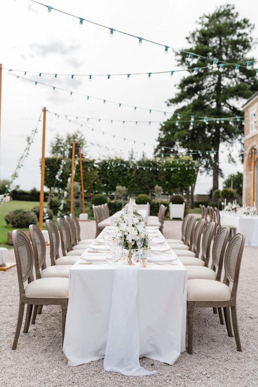 table de mariage en Bourgogne